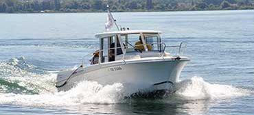 Foto eines Motorboots